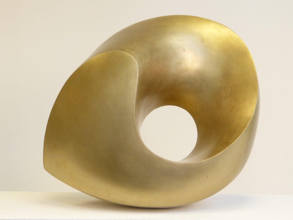 Abstrakte Skulptur aus Bronze
